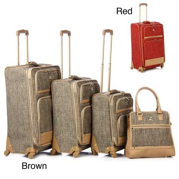 Oleg Cassini 4-piece Luggage Spinner Set