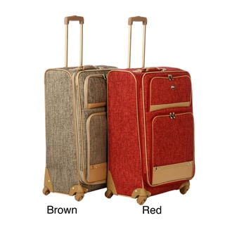 Oleg Cassini 28-inch Upright Spinner-wheel Suitcase with Handles