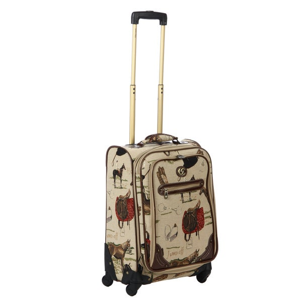 Oleg Cassini 2446-20 Pony Up 20-inch Expandable Tapestry Carry-on Spinner Upright