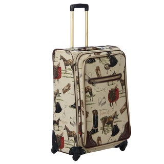 Oleg Cassini Pony Up 28-inch Expandable Tapestry Spinner Upright