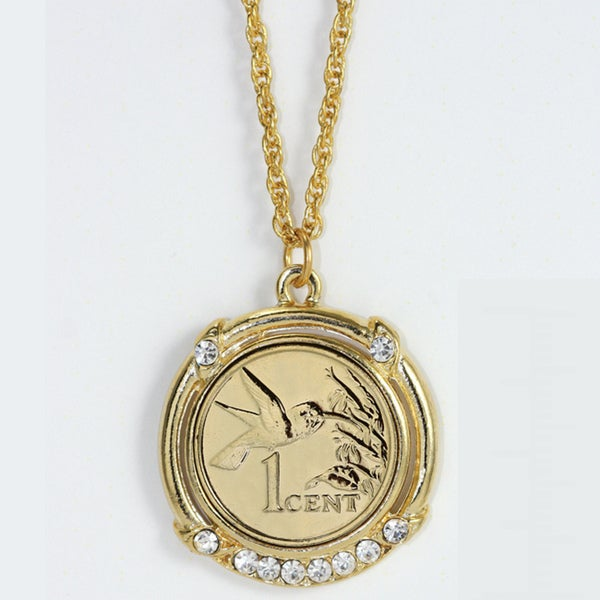 American Coin Treasures Gold Layered Hummingbird Coin Pendant