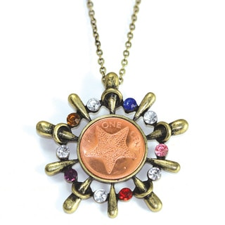 American Coin Treasures Starfish Multi-stone Necklace