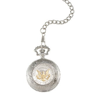 American Coin Treasures Selectively Gold-Layered Presidential Seal Pocket Watch