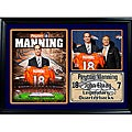Denver Broncos Peyton Manning with John Elway Photo Stat Frame