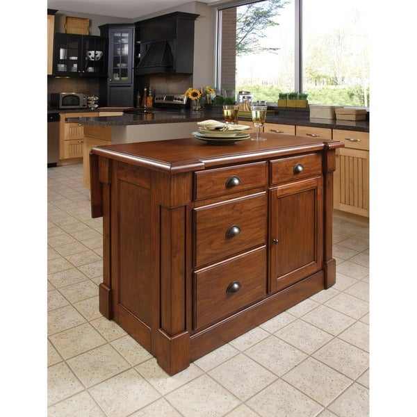 Home Styles Aspen Rustic Cherry Kitchen Island