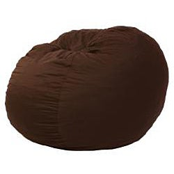 FufSack Chocolate Brown Polyester Microfiber Bean Bag Chair