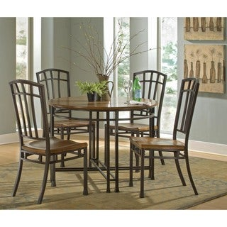 Oak Hill Distressed Oak 5-piece Dining Set