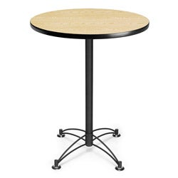 OFM 30-inch Round Caf� Table with Black Base