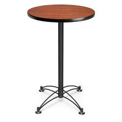 OFM 24-inch Round Café Table with Black Base
