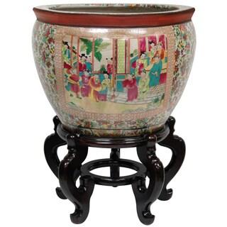 Porcelain Rose Medallion Fishbowl (China)