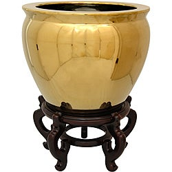 Gold Porcelain Fishbowl (China)