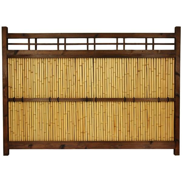 Japanese Bamboo 4x5.5-foot Kumo Fence (China)