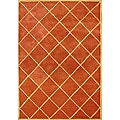 Hand-tufted World Classic Rusty Orange Wool Rug (5' x 8')