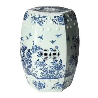 Handmade Tree Motif Ceramic Garden Stool (China)