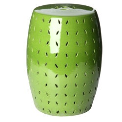 Handmade Light Green Porcelain Garden Stool (China)