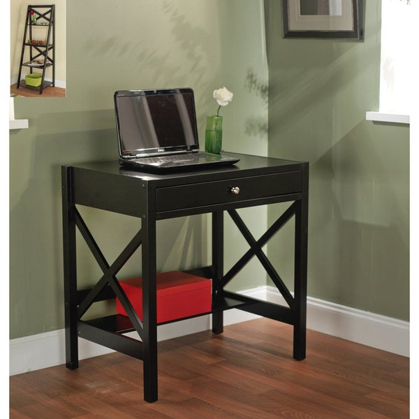 Simple Living Black X Design Writing Desk 14216200