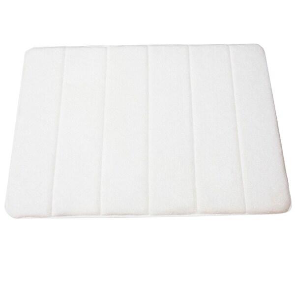 Memory Foam White Bath Mat
