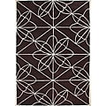 Handmade Chocolate Brown Wool Rug (5' x 8')