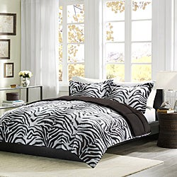 Comfort Classic Zebra Twin-size 2-piece Down Alternative Comforter and Sham Set
