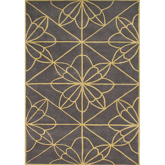 Alliyah Handmade Teak New Zealand Blend Wool Rug (5' x 8')