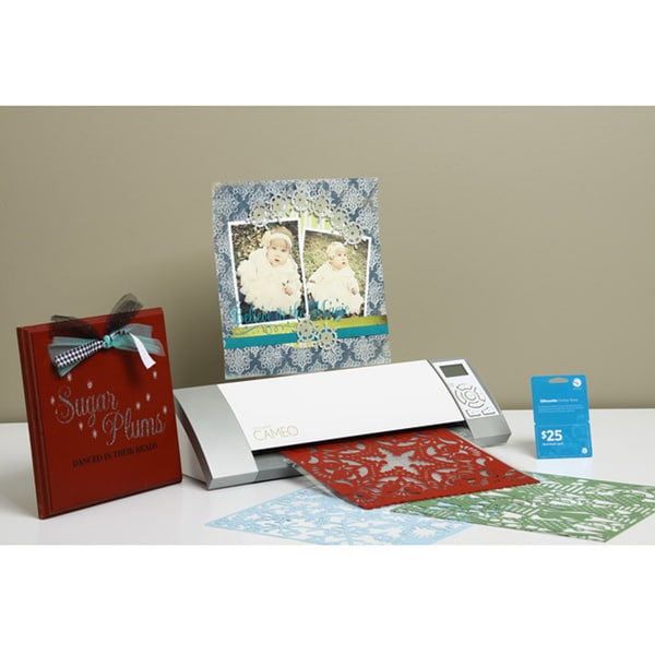 "Silhouette Cameo 12"" x 10"" Die-Cutting Machine with $25 Download Card + One Month Subscription"