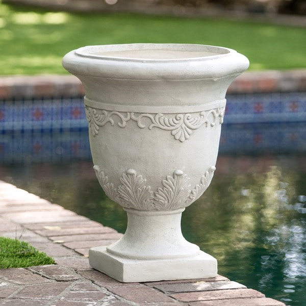 Christopher knight home moroccan 20 inch antique green urn planter