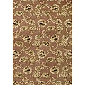 Hand-Tufted Chocolate Brown Wool Area Rug (5' x 8')