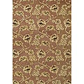 Hand-Tufted Chocolate Brown Wool Area Rug (8' x 10')