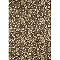 Alliyah Handmade Tobacco Brown New Zealand Blend Wool Rug (8' x 10')