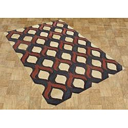 Hand-tufted Sunset Gold Wool Rug (8' x 10')
