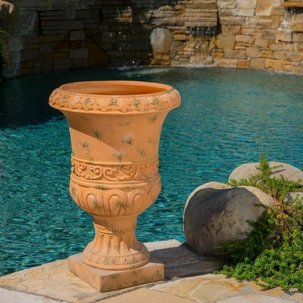 Christopher Knight Home Antique Green Turkish 26-inch Urn Planter