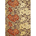 Hand-tufted Tobacco Brown Wool Rug (5' x 8')