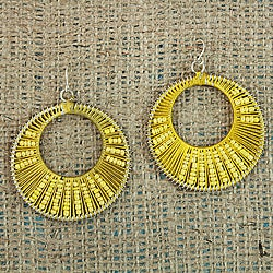Handcrafted Yellow 'Colorful Secrets' Earrings (Thailand)