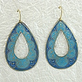 Handcrafted Blue 'RainDrop' Earrings (India)