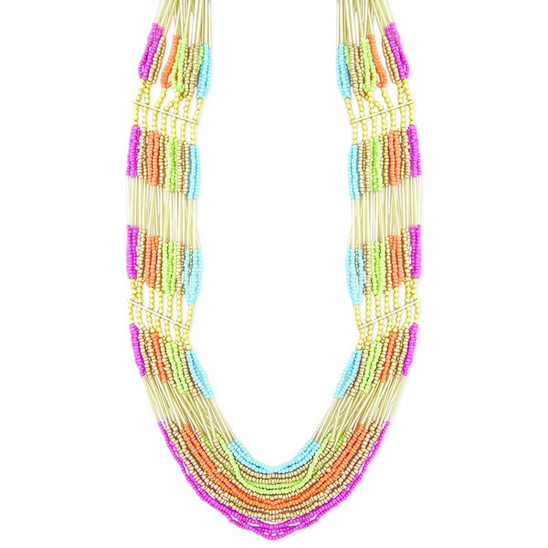 Handcrafted Multi-strand 'Colorful Harmony' Necklace (India)