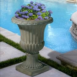 Christopher Knight Home Antique Green Italian 26-inch Urn Planter