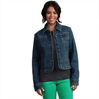 Women's Top-stitch Denim Jacket