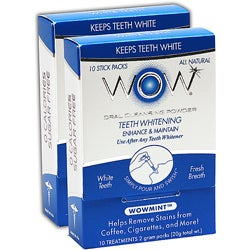 WOW Teeth Whitening Wowmint Oral Rinse Powder (20 sticks)