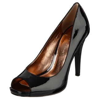BCBGeneration Women's 'Dion' Black Peep Toe Pumps