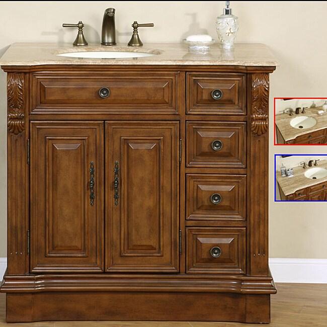 38 inch stone counter top bathroom vanity lavatory single sink cabinet