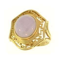 Mason Kay Natural Lavender Jade Oval Ring Size 6.5