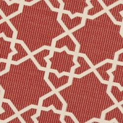 Poolside Red/ Beige Indoor Outdoor Rug (6'7 Round)