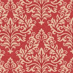 Poolside Red/ Cream Indoor Outdoor Rug (4' x 5'7)