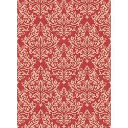 Poolside Red/ Cream Indoor Outdoor Rug (6'7 x 9'6)