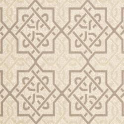 Poolside Beige/ Dark Beige Indoor Outdoor Rug (6'7 x 9'6)