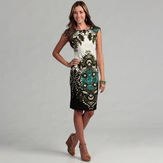 London Times Women's Floral Motif Sheath Dress