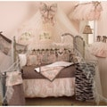 Cotton Tale Machine-Washable Nightingale Four-Piece Crib Bedding Set