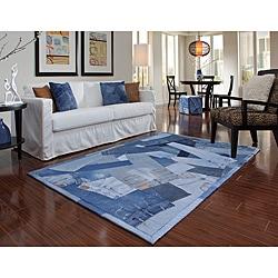 Beaufort Denim Blue Full Rug (5'0 x 7'6)