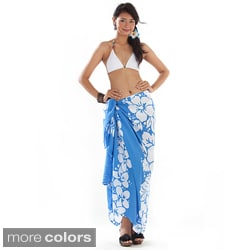 Batik 3-row Hibiscus Sarong (Indonesia)