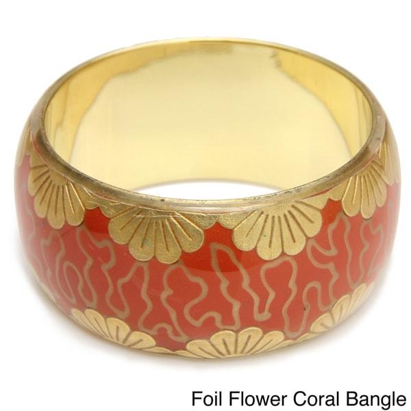 Saachi Foil Flower Bangle (India)